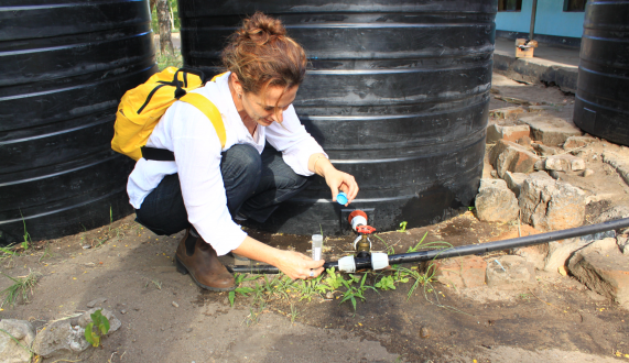 MA study at the Department of Environmental Studies examines systems used by local communities in Africa, upgrading natural water for drinking purpose