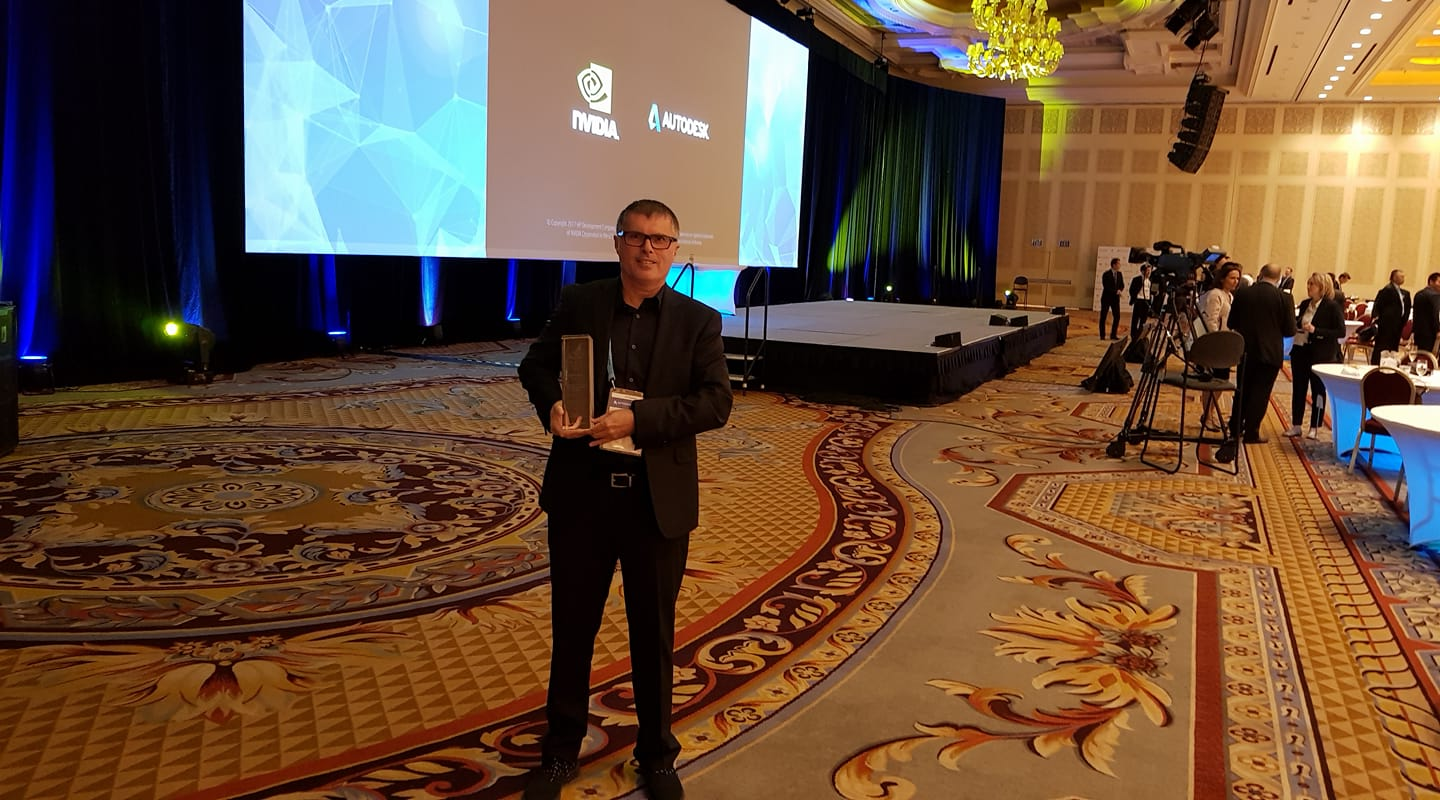 Arch Dr. Yasha Grobman Receiving the Autodesk AEC Excellence Awards 2017