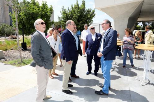 Professor Colin Price welcomes Prince Albert II of Monaco at the Porter Building. Photo: Chen Galili