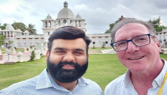 Saurabh Sharma and Colin Price at Conference at Tripura University India