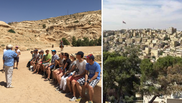 Students visiting Jordan and Israel are studying how the two nations cooperate to advance environmental sustainability.